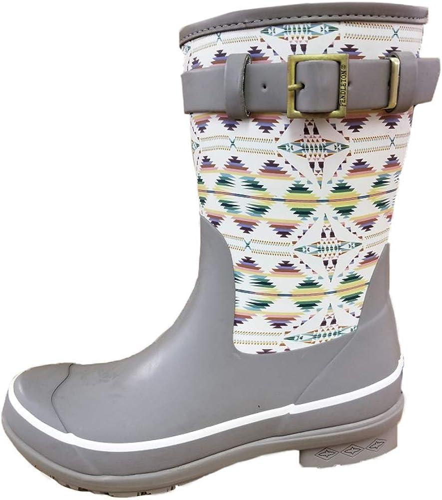 Pendleton Women's Heritage Print Short Slip-Resistant Rain Boot