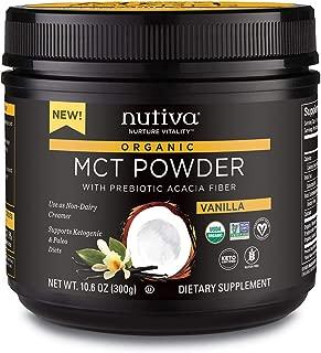 Nutiva Organic MCT Powder, Vanilla, 10.6 Ounce