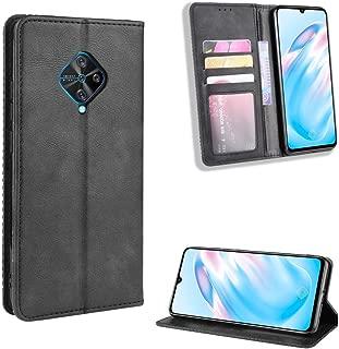 Case for Vivo S1 Pro Case Cover,Case for Vivo S1 Pro Case PU Leather flip Cover Black