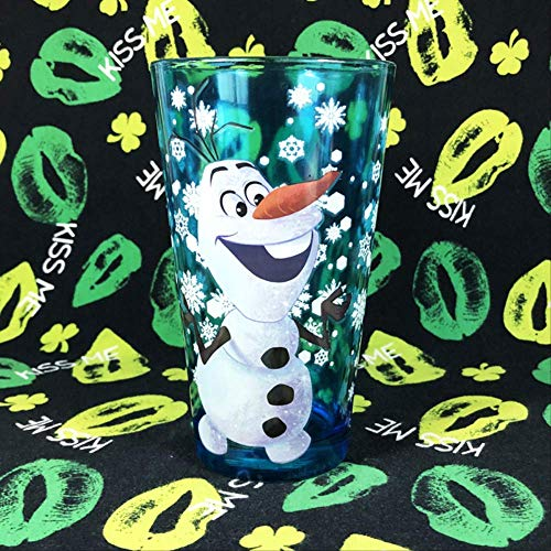 Movie Ice And Snow Edge Cute Cartoon Snowman Shepor Olaf Blue Transparent Glass