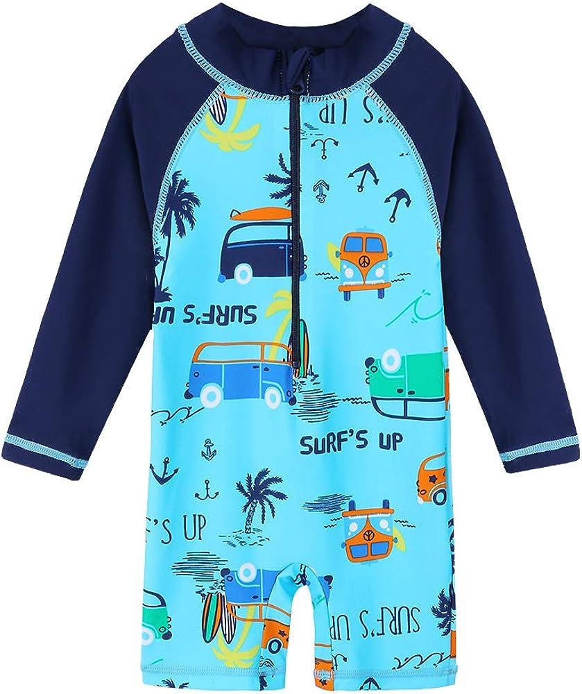 HUAANIUE Baby Toddler Award Boy Swimsuit Sleev Large discharge sale Long Swimwear Rashguard