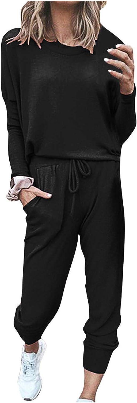 Pajamas for Women Two Piece Set,Womens Pajamas Tie Dye Printed Crew Neck Long Sleeve Top and Pants Loungewear Nightwear
