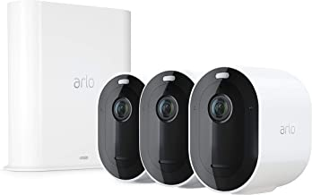 Arlo Pro 3-3 Camera System| 2K Video with HDR Security Camera, Wire-Free, Colour Night Vision, 160° View (VMS4340P-100AUS)