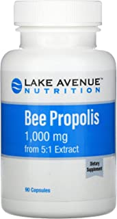 Lake Avenue Nutrition Bee Propolis, 5:1 Extract, Equivalent to 1,000 mg, 90 Veggie Capsules