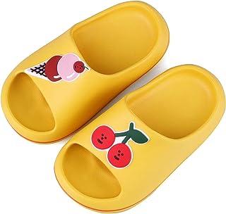 FJWYSANGU Toddler Fruit Bath Shower Slippers Kids Soft Slide Sandals Non-Slip Summer Beach Shoes Boys Girls