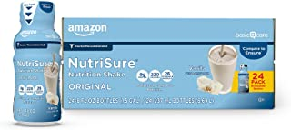 Amazon Basic Care NutriSure Original Nutrition Shake, Vanilla, Meal Replacement Shake, 24 Count