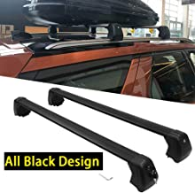 Kingcher 2 PCS Black Roof Racks Fit for Land Rover Discovery 5 LR5 2017 2018 2019 Crossbars Baggage Luggage