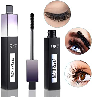 Midenso 4D Lash Mascara Silk Fiber Eyelash Mascara Waterproof Thicker Longer Voluminous Eyelashes Makeup Long Lasting with Hypoallergenic Ingredients Non-toxic and Natural
