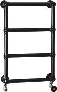 ENKI radiador toallero para baño 750 500mm clásico pared negro BALLERINA