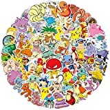 Pokemon Stickers 100PCS Comic Stickers Birthday Party Supplies Youth Gifts Suitable for Children and...