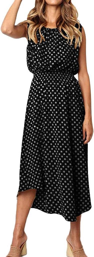 KYLEON Women's Dress Reservation Dot Printing Elegant Neck Max 82% OFF O Sexy Sleeveless