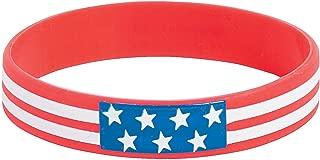 Fun Express Rubber Patriotic Bracelets - 12 Pieces