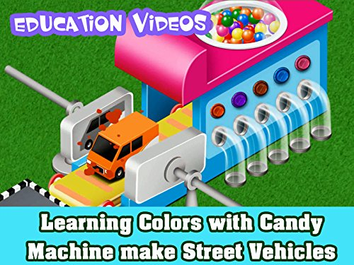 Learning Colors with Candy Machine make Street Vehicles