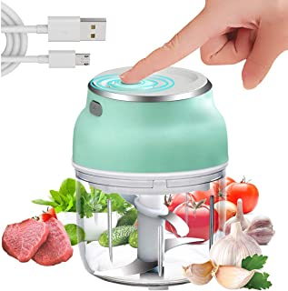 Superpower Electric Mini Food Chopper, Portable 230ml Vegetable Mincer Meat Blender, Food Processor for Kitchen Tools Vege...