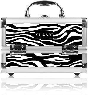 SHANY Mini Makeup Train Case With Mirror - Zebra