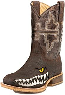 Tin Haul Big Kids Swamp Chomp Square Toe Boots