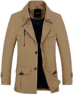 kemilove Men's Canvas Cotton Military Lapel Jacket