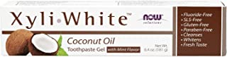 NOW Solutions, Xyliwhite™ Toothpaste Gel, Coconut Oil, Cleanses and Whitens, Cool Coconut-Mint Taste, 6.4-Ounce