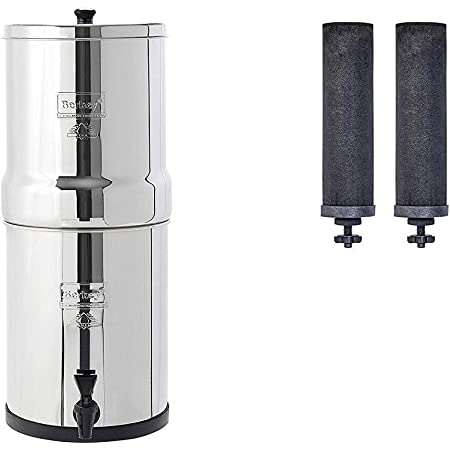Travel Berkey Gravity-Fed Water Filter with 2 Black Berkey Purification Elements