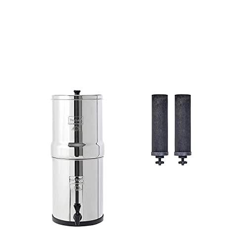 Travel Berkey Water Filter System with 2 Black Purifier elements Filtration UK
