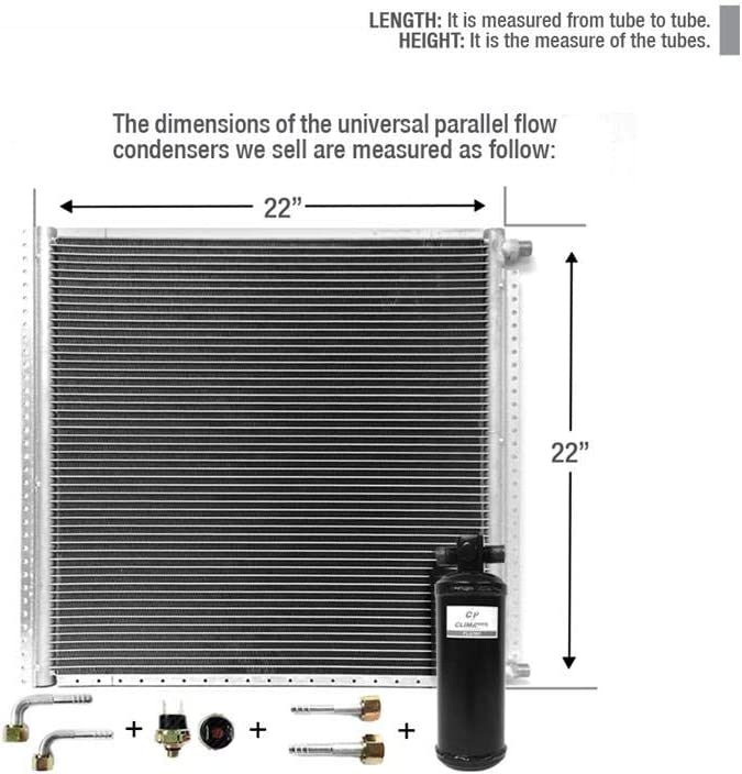 Recommendation Climaparts Cnfp2222kt Ac A C Universal Condenser Max 48% OFF Parallel 2 Flow