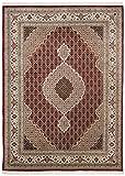Alfombra Oriente Tabriz roja Tamaño 250 x 350 cm