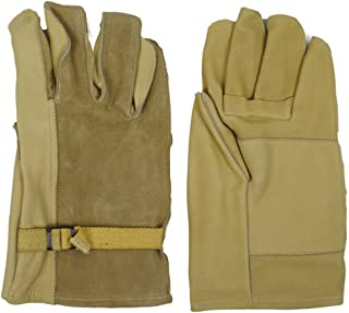 GI Style Heavy Duty Leather Gloves Glove Cream Shell (Medium)