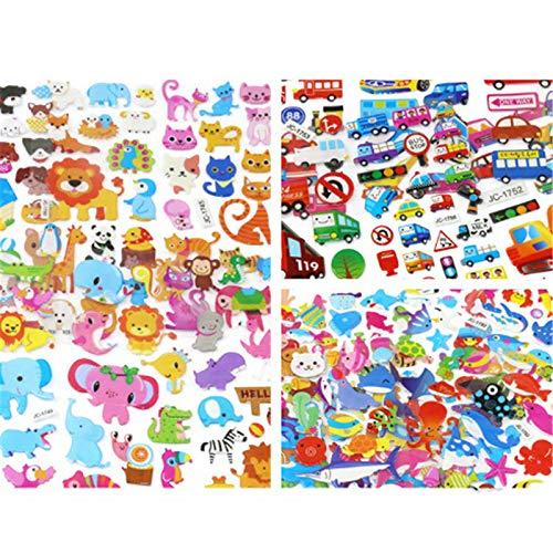 PMSMT 5 Hojas/Lote Pegatinas de Burbujas hinchadas Dibujos Animados Mixtos Mickey Cars Spiderman Waterpoof DIY niños niño niña Juguete
