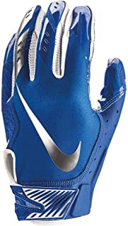 Men`s Nike Vapor Jet 5.0 Football Gloves Game Royal/Chrome Size XX-Large