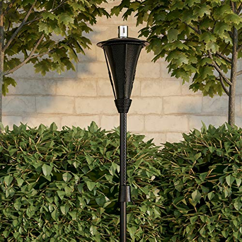 "%10 OFF! Pure Garden 50-222 Outdoor Torch Lamp-45"" Metal Fuel Canister Flame Light for Citronella ..."