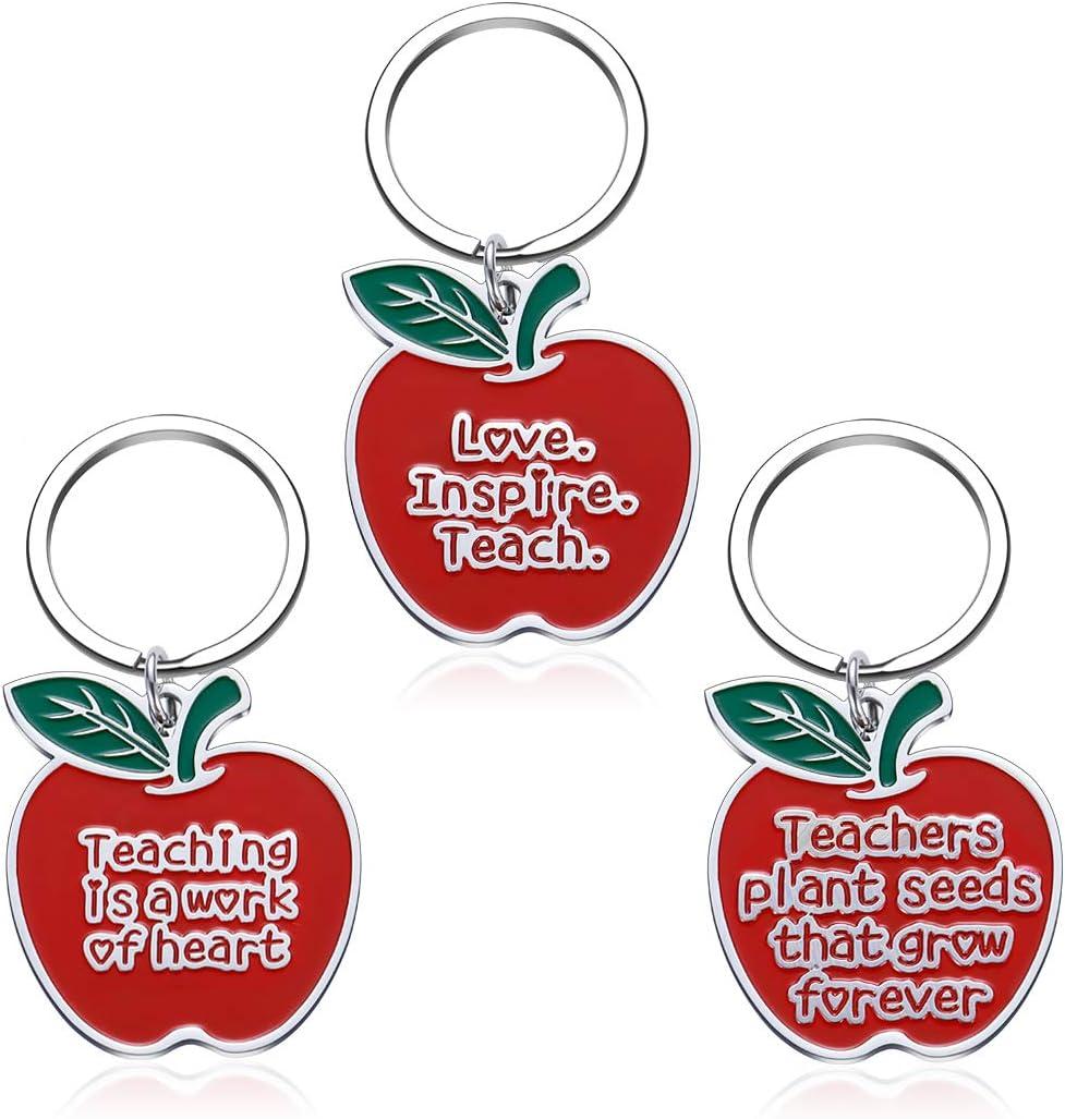 Teacher Appreciation Christmas Gifts 2020 for Teachers Keychain Sets 3 Pieces Thank You Gifts for Teachers Coaches Tutors Principals Presents Teachers Week Brithday Graduation Gifts Women