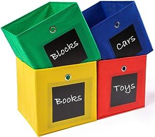 منظم مكعب التخزين نيو هايتسهوم مع ملصق سبورة - 28 سم - ألعاب الأطفال، والكتب، والملابس - مثالي لغرف الأطفال، وغرفة النوم، ...