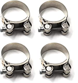 29-31mm T-Bolt Clamp 304 Stainless Steel Pipe Clamp Heavy Duty Hose Clamp (Pack of 4)
