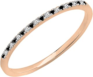 Best rose gold stackable diamond band Reviews