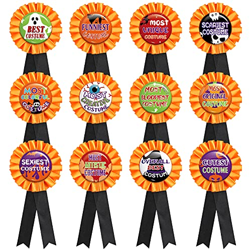 P1nkpopp Halloween Costume Award Ribbon - Trick or Treat Contest Party Prize Decorations Supplies