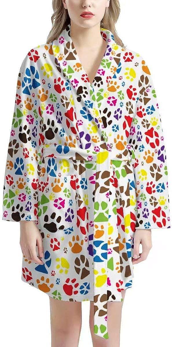 Tupalatus Women Max 58% OFF Kimono Robe Cotton Fort Worth Mall Bathrobes with Sleepwear Fron