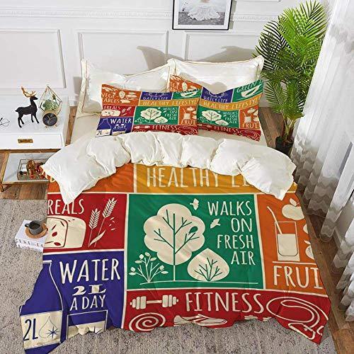 ropa de cama: juego de funda nórdica, gimnasio, collage de diferentes marcos...