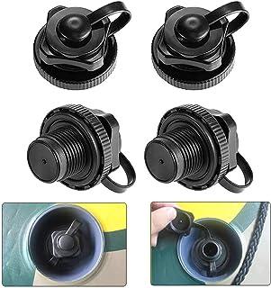 Uni-Fine 4PCS Válvula de Boston Válvula de Aire de Bote 22mm Válvula de Aire para Barco Inflable de Piragua Kayak Canoa Colchón Inflable Colchoneta Hinchable