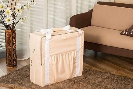 YANGGUANGBAOBEI Newborn Lounger Breathable Hypoallergenic Co-Sleeping Baby Bed-Nursery Travel Folding Baby Bed Bag Beige