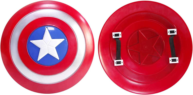 DMAR Captain America Shield 20 inch Superhero Cape Captain America Cape and  Mask for Kids
