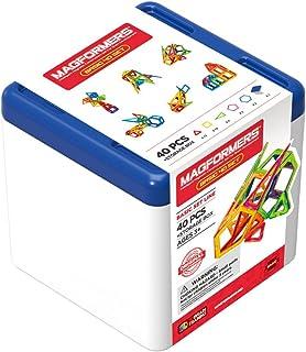 Magformers Basic Rainbow 40 Pieces Tub Set, Rainbow Colors, Educational Magnetic Geometric Shapes Tiles Building STEM Toy ...