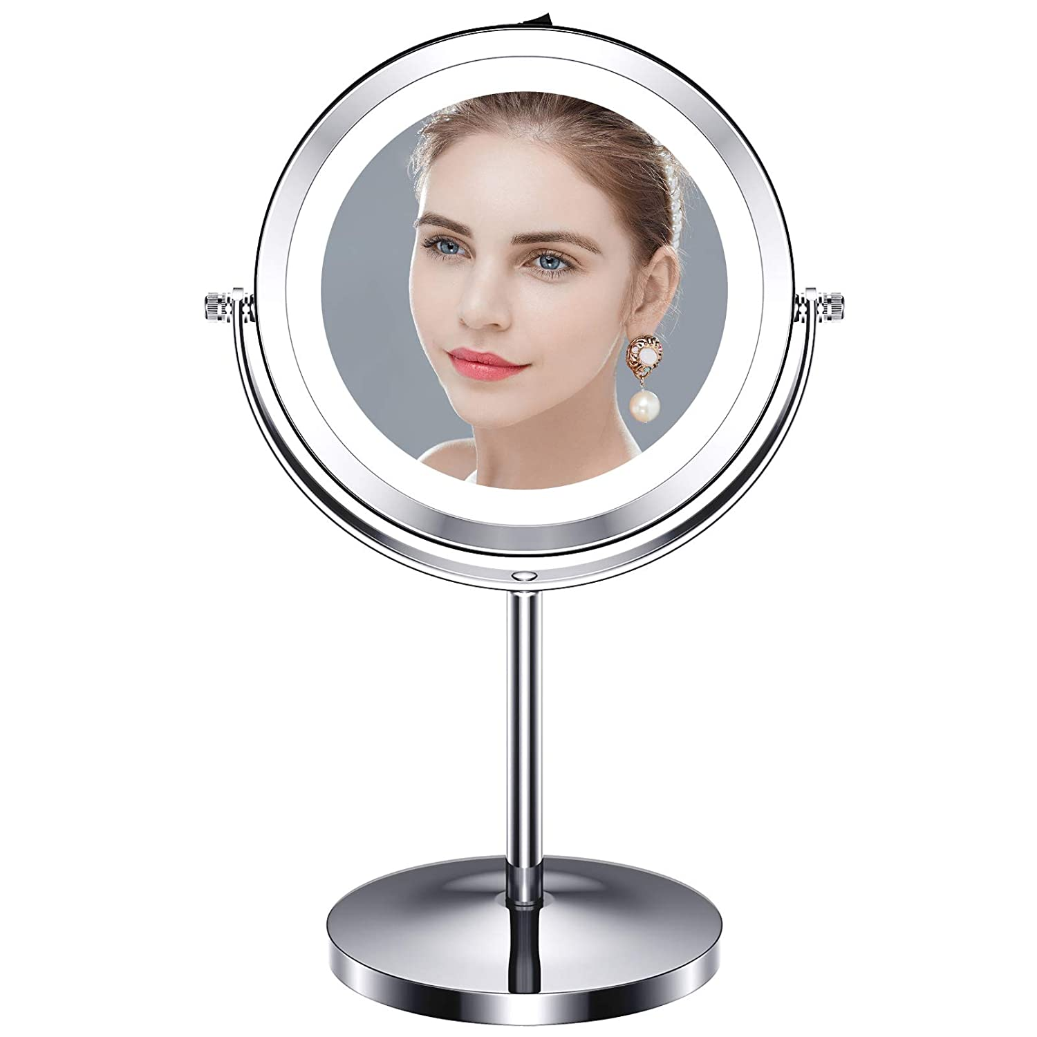 Buy Benbilry 10x Magnifying Lighted Makeup Mirror 7 Inch Double Sided Vanity Mirror With 10 Magnification Cosmetic Mirror With Lights For Bathroom Or Bedroom Battery Operated Online In Turkey B07ykpwcnw