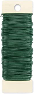 Darice Paddle 24 Gauge, Green, 59 yards Floral Wire
