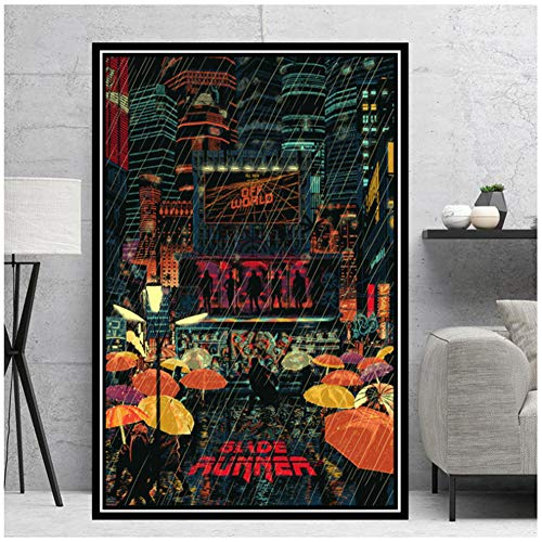 Impresiones de carteles Blade Runner Movie Film Gift Modern Comic Painting Canvas Art Wall Pictures Living Room Home Decor -50x70cm Sin marco