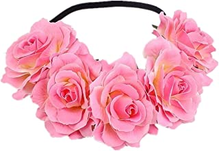 Love Fairy Bohemia Stretch Rose Flower Headband Floral Crown for Garland Party