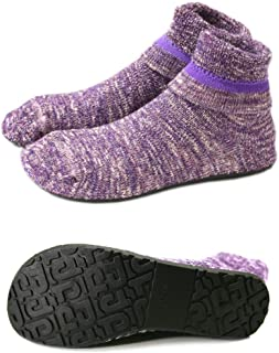 9ab5405e31a Women Slipper Socks Warm Thick Home Fuzzy Socks with Soles Rubber Bottom  Non Skid Wearable