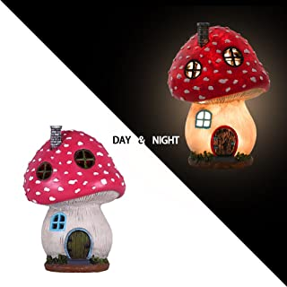 garden statues with solar lights