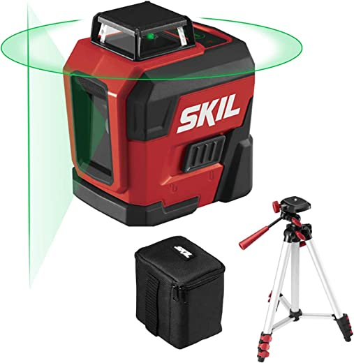 SKIL 100ft. 360° Green Self-Leveling Cross Line Laser Level with Horizontal and...