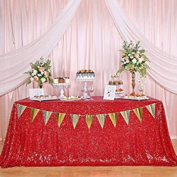 red table cloths rectangle