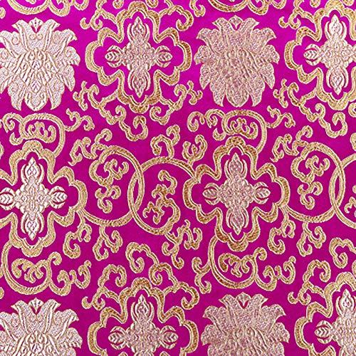 MUYUNXI Tela De Raso Forro De Tela para Vestidos De Novias Fundas Artesanías Vestidos Blusas Ropa Interior 75 Cm De Ancho Vendido por Metro(Color:Rosa roja)